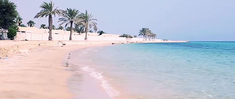 Badespass in Katar - Badestrand Sealine Beach Resort