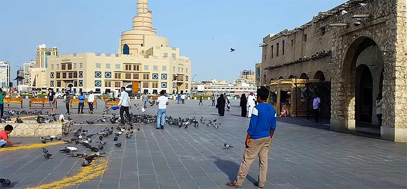 Eingang zum Souq Waqif in Doha (Katar)