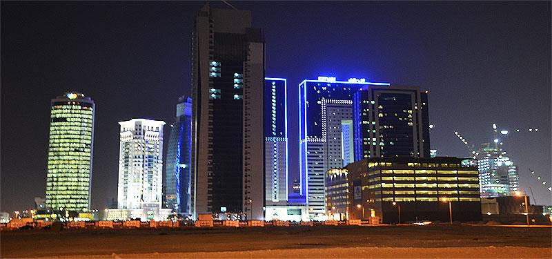 Ezdan Hotels Doha Katar blauen umrahmt