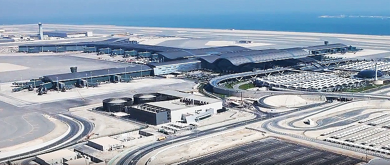 Hamad International Airport von aussen