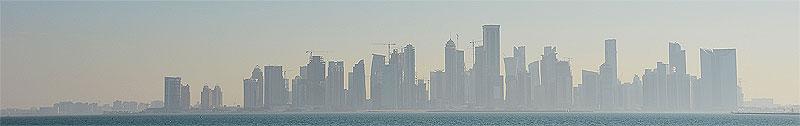 Sicht auf die Westbay Doha (Katar)
