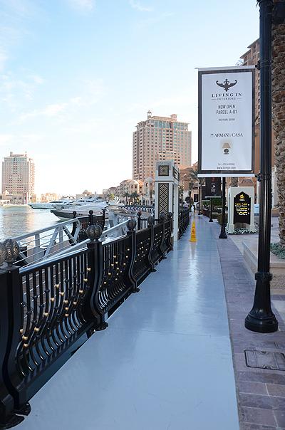 Besuch von The Pearl in Doha zum Shopping bei einem Zwischenstopp in Doha/ Katar