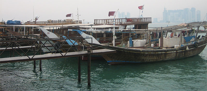 Ausfahrt mit einer Dhow in Doha (Katar)