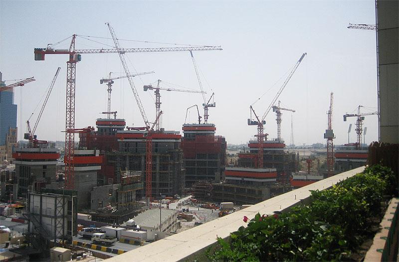 Baustelle in Doha (Wirtschaft in Katar)