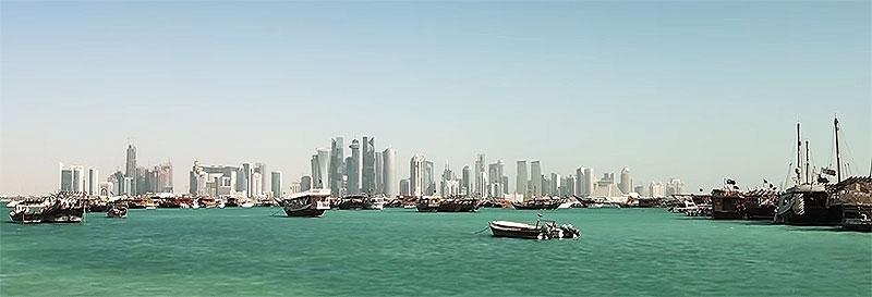 Blick auf Doha (West Bay Area)