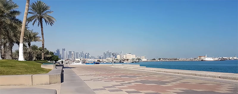 Blick auf Doha von der Corniche (Katar)