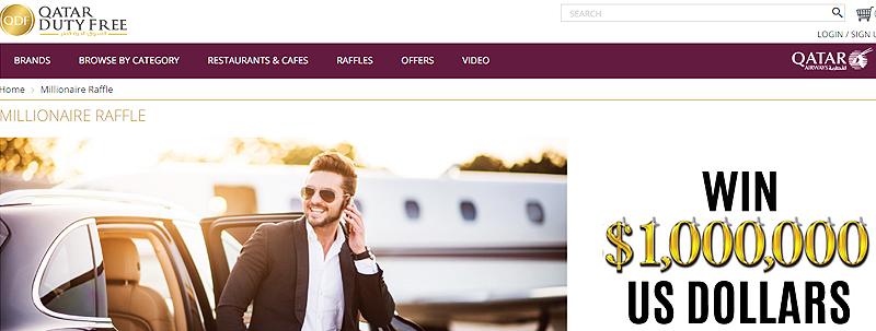 Lotterie in Katar (Qatar duty free Millionaire Raffle)