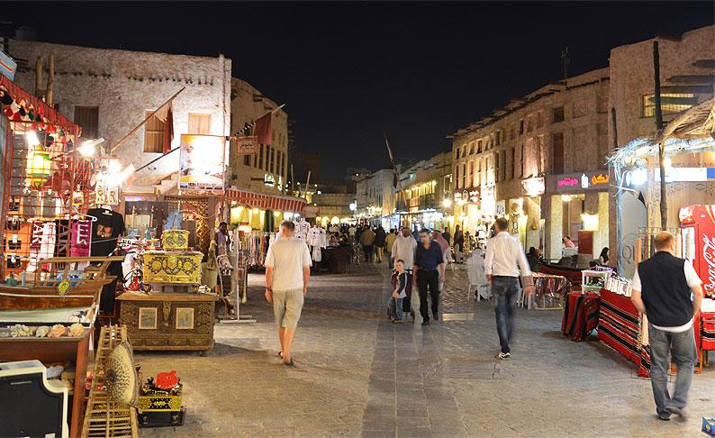 Menschen in Doha (Katar)
