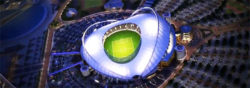 Stadion der Fussball-WM 2022 in Katar