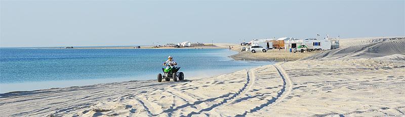 Strand in Katar