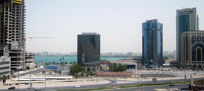 Strasse in Doha (Katar)