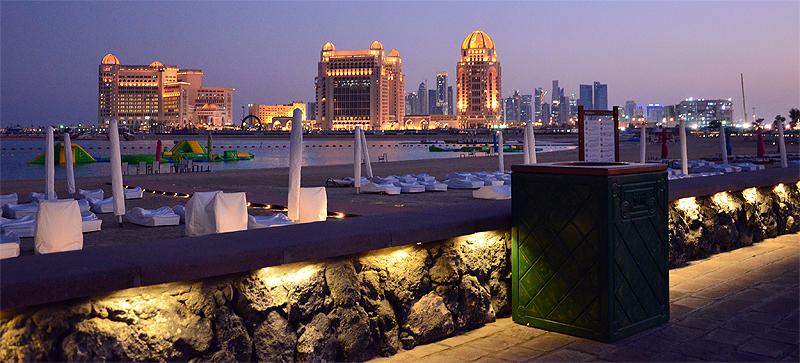 Doha bei Nacht - Nachtleben in Doha