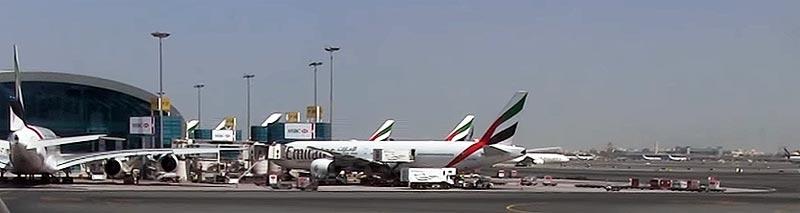 Gestoppter Flug von Emirates in Dubai nach Doha