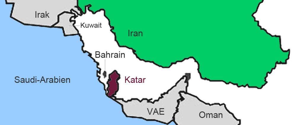 Katar isoliert im Konflikt zwischen Saudi-Arabien und dem Ira