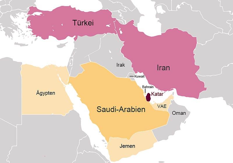 Katar-Krise - Isolation Katars durch Saudi-Arabien