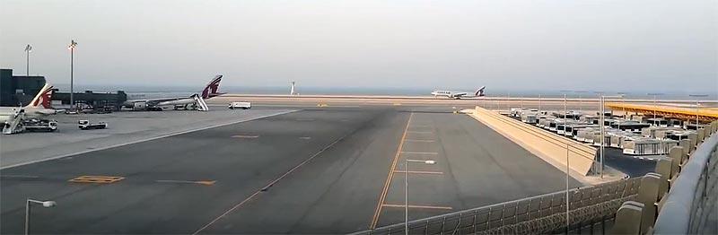 Maschine von Qatar Airways landet in Doha