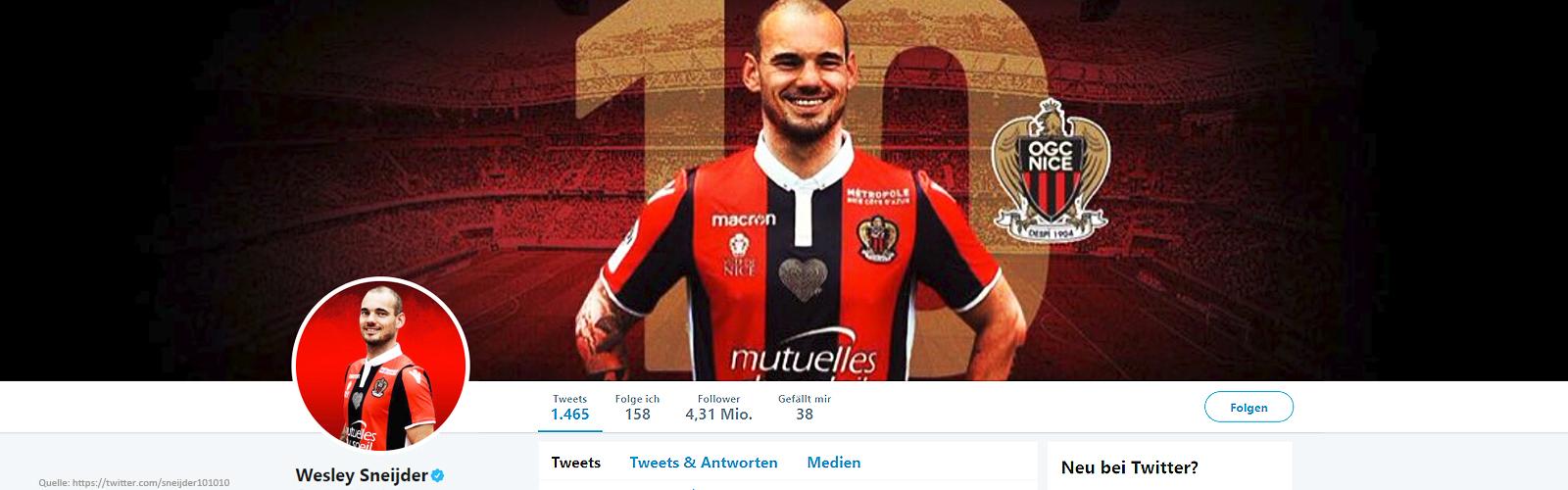 Wesley Sneijder Wechsel nach Katar zu Al Gharafa SC