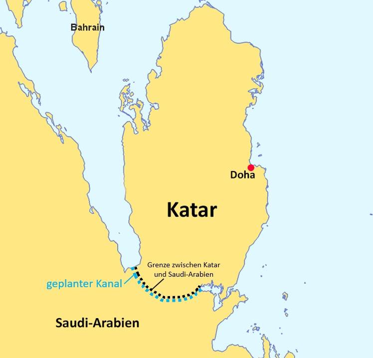Salwa Canal Project – Kanal soll Katar isolieren