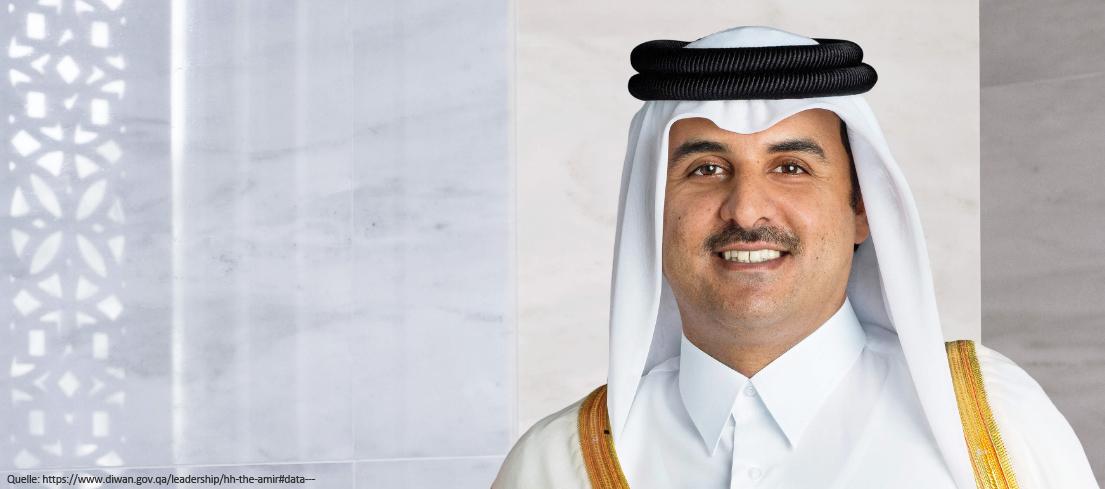 Emir von Katar - Scheich Tamim bin Hamad Al Thani