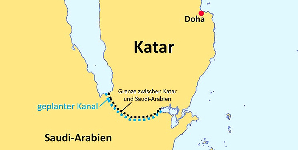 Salwa-Canal-Project - Kanal soll Katar isolieren