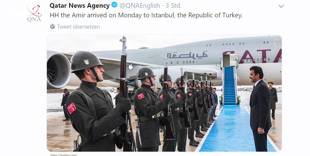 Emir von Katar (Tamim bin Hamad Al Thani) in der Türkei