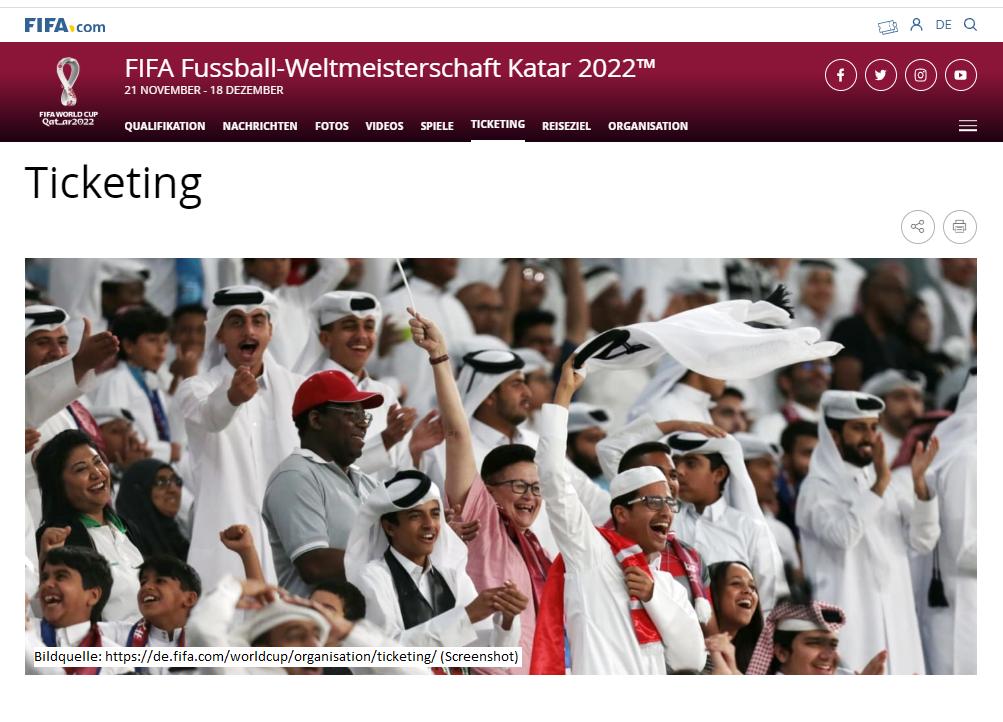 Ticketverkauf FIFA WM 2022 Katar
